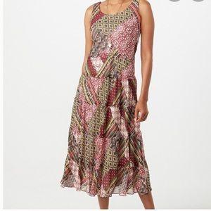 New Jones Studio Patchwork Boho Maxi Dress